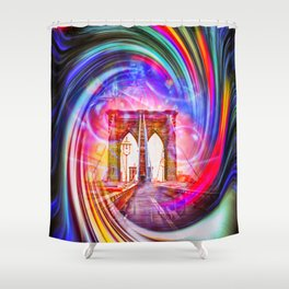 New York Brooklyn Bridge 2 Shower Curtain