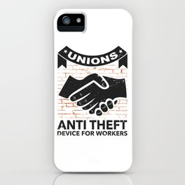 Labor Union of America Pro Union Worker Protest Light iPhone Case