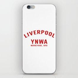 Liverpool tshirt   You'll Never Walk Alone   YNWA shirt   Premier league team iPhone Skin