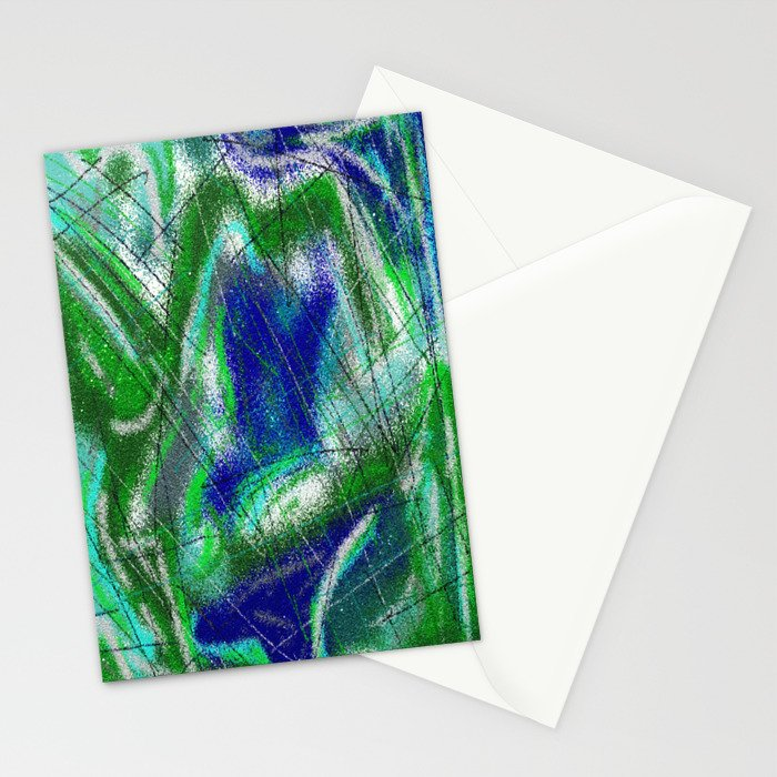 New World Matt Texture Abstract VII Stationery Cards