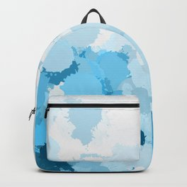 Blue watercolor abstract splatter Backpack