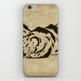 Sleepy Bear Mountain iPhone Skin