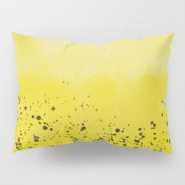 Abstract background with speckles - yellow and black Pillow Sham