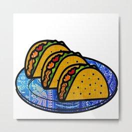 Taco Plate Metal Print