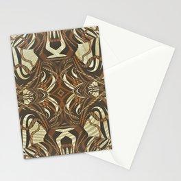 Neo-Tribal Woodwork Mandala Print Stationery Cards
