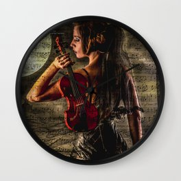 Violin 2 Wall Clock