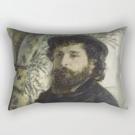 Pierre-Auguste Renoir - Portrait of Claude Monet Rectangular Pillow