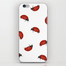 Ladybug Pattern iPhone Skin