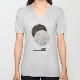 Calculating a Jump over the Moon Unisex V-Neck