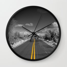 The road goes on for ever Wall Clock