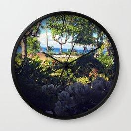Tropical gardens Wall Clock
