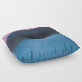 Mountain Sunset Abstract Floor Pillow