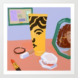 Black Beauty Care Art Print