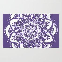Ultraviolet Flower Mandala Rug