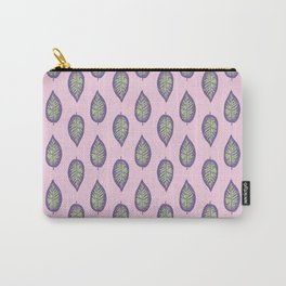 Dieffenbachia ultra violet tropical leaf seamless pattern Carry-All Pouch