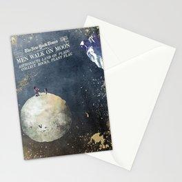 Men walk on Moon Astronauts Stationery Cards