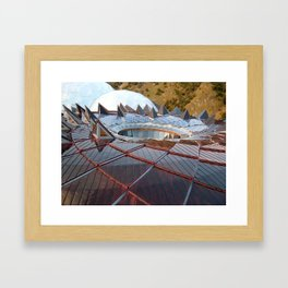 CORE ROOF EDEN PROJECT CORNWALL Framed Art Print