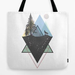 Woods in mountains Tote Bag