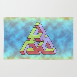 Triangle Of Abstract Colorful Rug