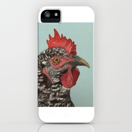 Plymouth Barred Rock Chicken Portrait iPhone Case