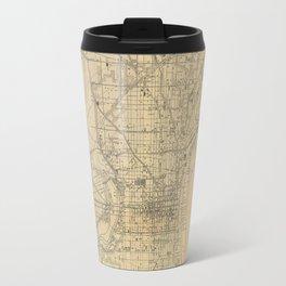 Vintage Philadelphia Railroad Map (1911) Travel Mug