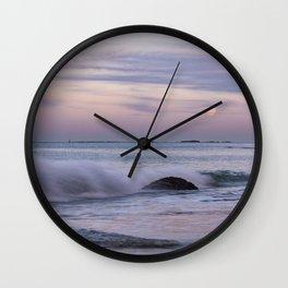 Pastel Ocean Moonrise Wall Clock