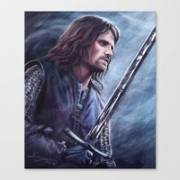 aragorn Canvas Prints featuring Aragorn by Svenja Gosen