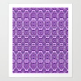 Ultra Violet and White Garden On A Sunny Day Art Print