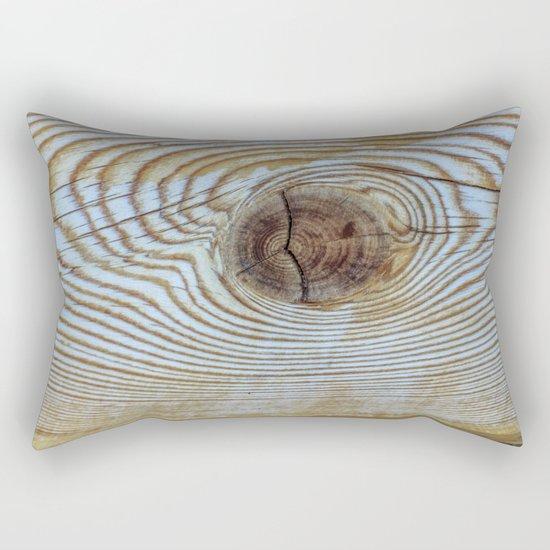 Wooden Knot Texture Rectangular Pillow
