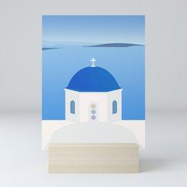 Blue Dome Church, Oia, Santorini, Greece Mini Art Print