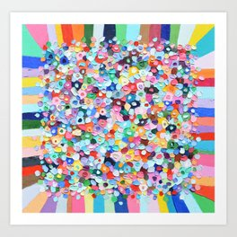 Polka Daub Explosion Art Print
