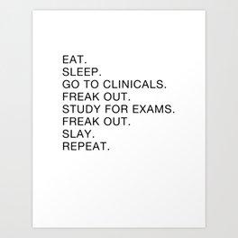 Clinical, Nursing Student, Med Student Art Print