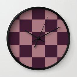 Lamassu - Colorful Decorative Abstract Checker Art Pattern Wall Clock