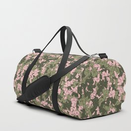 Origami Unicorn Camo PINK Duffle Bag