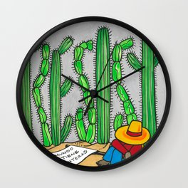 RESIST the wall Wall Clock