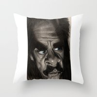 nick cave Throw Pillows featuring Nick Cave by Patrick Dea