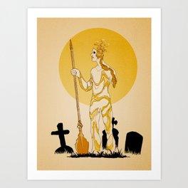 Candlelit Gravekeeper Art Print