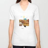 morocco V-neck T-shirts featuring Marrakech, Morocco  by Design4u Studio