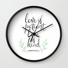 Love Is Patient, Love Is Kind Wall Clock