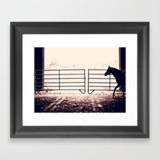 Horse Silhouette Framed Art Print