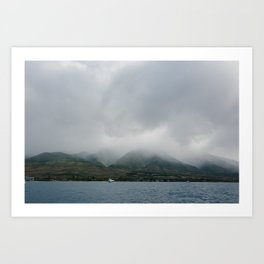 Foggy Maui View Art Print