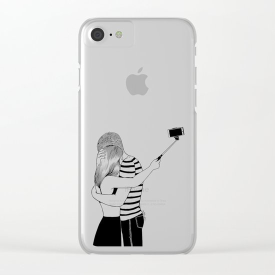Do I love you or Do I just love me in love Clear iPhone Case