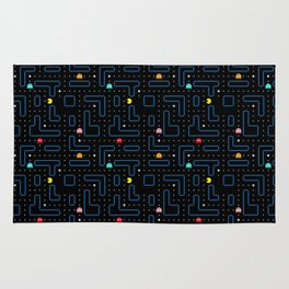 Pac-Man Retro Arcade Gaming Design Rug