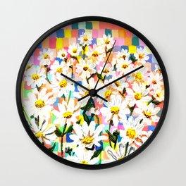 Land of Daisies Wall Clock