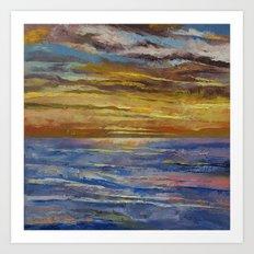 Parfait Sunset Art Print