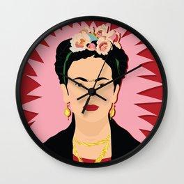 Frida Khalo (Red) | Bad Ass Women Series Wall Clock