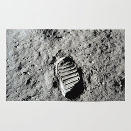 Boot Print on Moon Rug