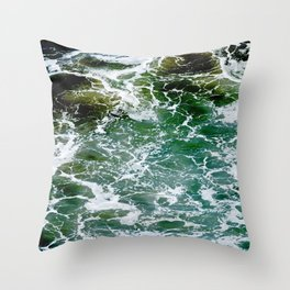 Impact Zone Abstract Throw Pillow
