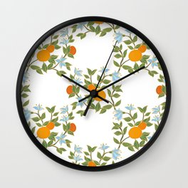 Andalusian oranges Wall Clock