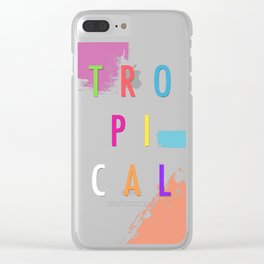Topical '17 Clear iPhone Case